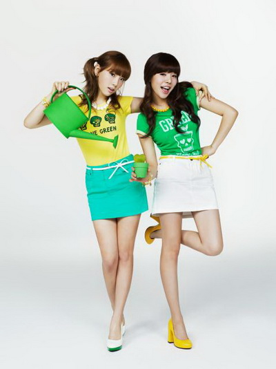 SNSD and Super Junior Organic T-Shirt SPAO Cute