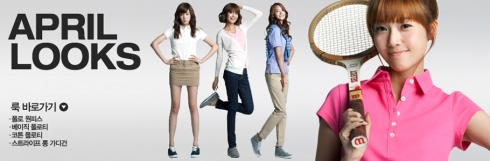 SNSD and Super Junior SPAO April Looks Cute